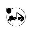 car insurance tractor icon isolated vector image vector image