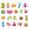 cartoon bacteria mascot virus character vector image