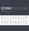 chemistry thin line icons vector image