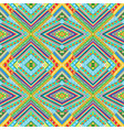 colorful kaleidoscope pattern with doodle vector image vector image