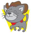 Cowboy Cat vector image
