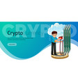 cryptocoin mining ethereum poster vector image