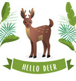 cute deer with antler vector image vector image