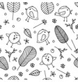 cute seamless colorless background vector image