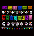 day dead dia de los muertos party decorations vector image vector image