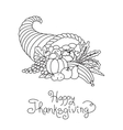 Doodle Thanksgiving Cornucopia Freehand vector image vector image