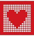 dot heart vector image vector image