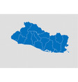 el salvador map - high detailed blue map with vector image vector image