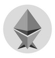 ethereum virtual money currency cryptocurrency vector image