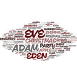 eve word cloud concept vector image
