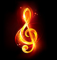 fiery musical key vector image