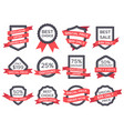 flat sale badge retro emblem ribbon banners and vector image