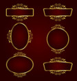 golden decorative frames vector image
