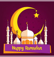 greeting card template for muslim holiday with vector image vector image