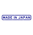 grunge blue made in japan word square rubber seal vector image vector image