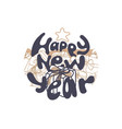 happy new year card holiday design vector image