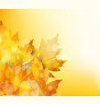 happy thanksgiving autumn background with vector image vector image