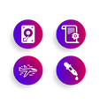 hdd airplane and technical documentation icons vector image vector image