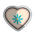 heart and flowers design vector image vector image