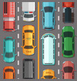 highway road with cars and vehicles top vector image vector image