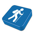 hiking icon isolated vector image vector image