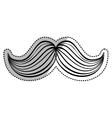Hipster gentleman mustache vector image