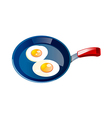 icon egg and frying pan vector image