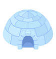 igloo ice house icon blue snow dome vector image