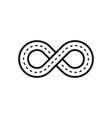 infinity road symbol vector image