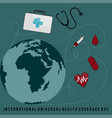 international universal health coverage day vector image vector image