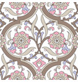 iznik tile floral seamless pattern design vector image vector image