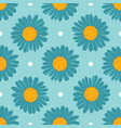 large daisies on a blue background chamomile vector image vector image
