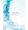 light blue polygonal mosaic background vector image