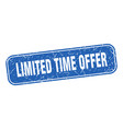 limited time offer stamp limited time offer vector image vector image