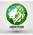 lion logo design template animal or Zoo vector image vector image