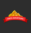 logo of swiss mountains vector image vector image