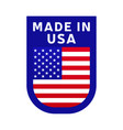 made in usa icon national country flag stamp vector image