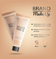 make-up product promotional banner vector image vector image