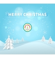 Merry Christmas 2015 greeting card vector image vector image