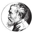 michelangelo profile portrait vintage vector image