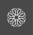 monogram hearts in form minimalist on a vector image vector image
