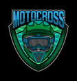 motocross helmet simple logo design vector image vector image