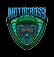 motocross helmet simple logo design vector image vector image