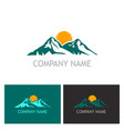 mountain nature logo vector image vector image