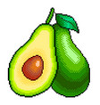 pixel avocado and slice detailed isolated vector image vector image