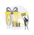 prize draw abstract concept vector image vector image