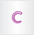 purple c letter logo logotype element icon symbol vector image vector image