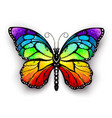 rainbow monarch butterfly vector image vector image