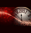 red shiny bokeh 2019 new year background with vector image