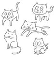 set of cat vector image